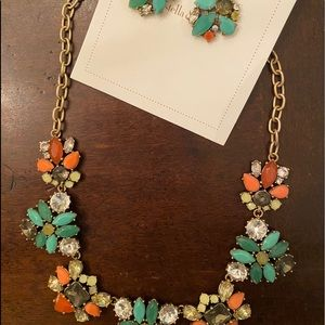 Stella & Dot statement necklace and earrings